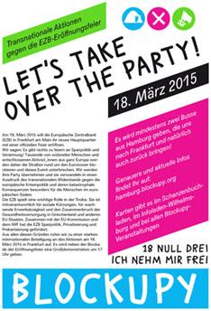 Flyer 2015 Blockupy Hamburg 2015